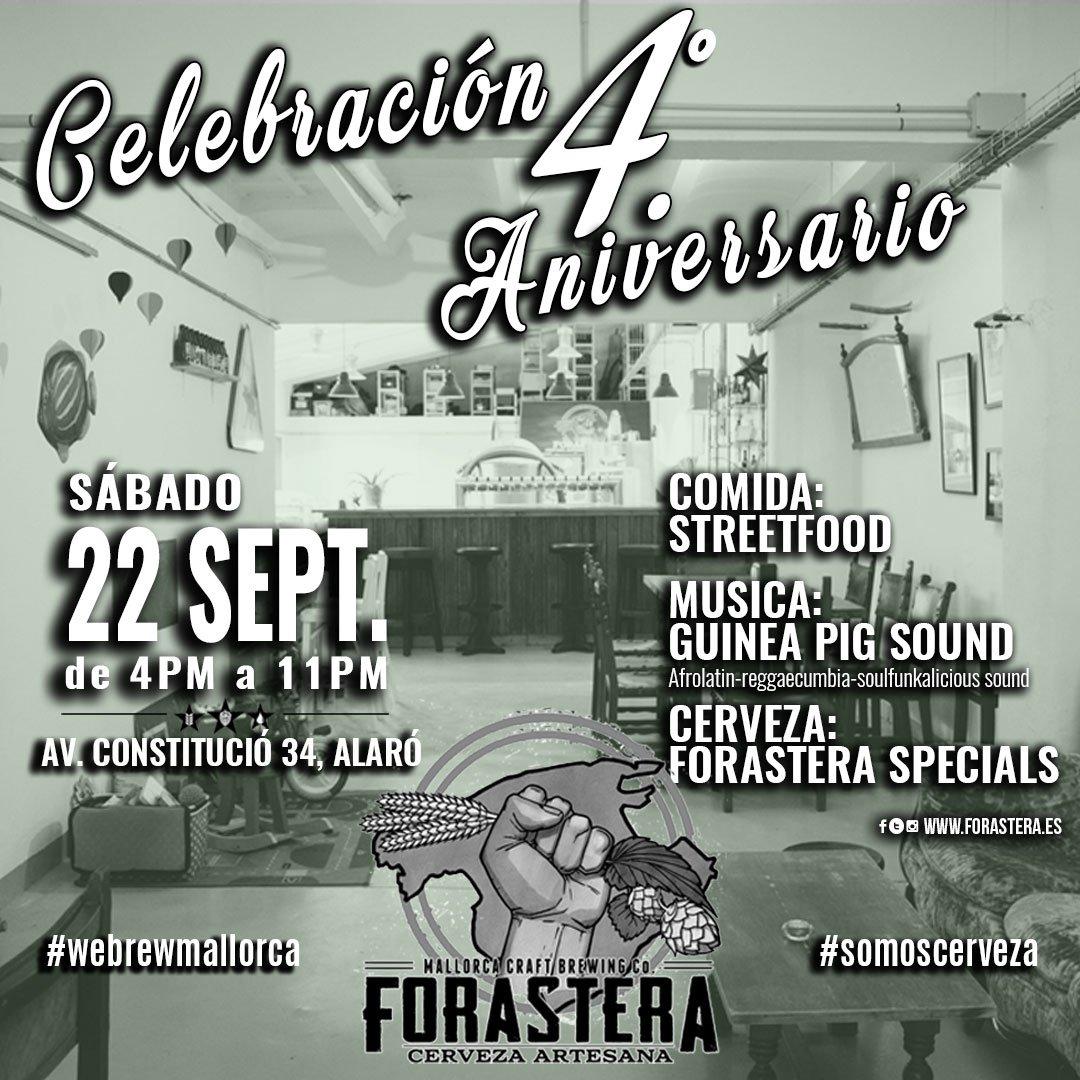 aniversario Forastera Beer Mallorca