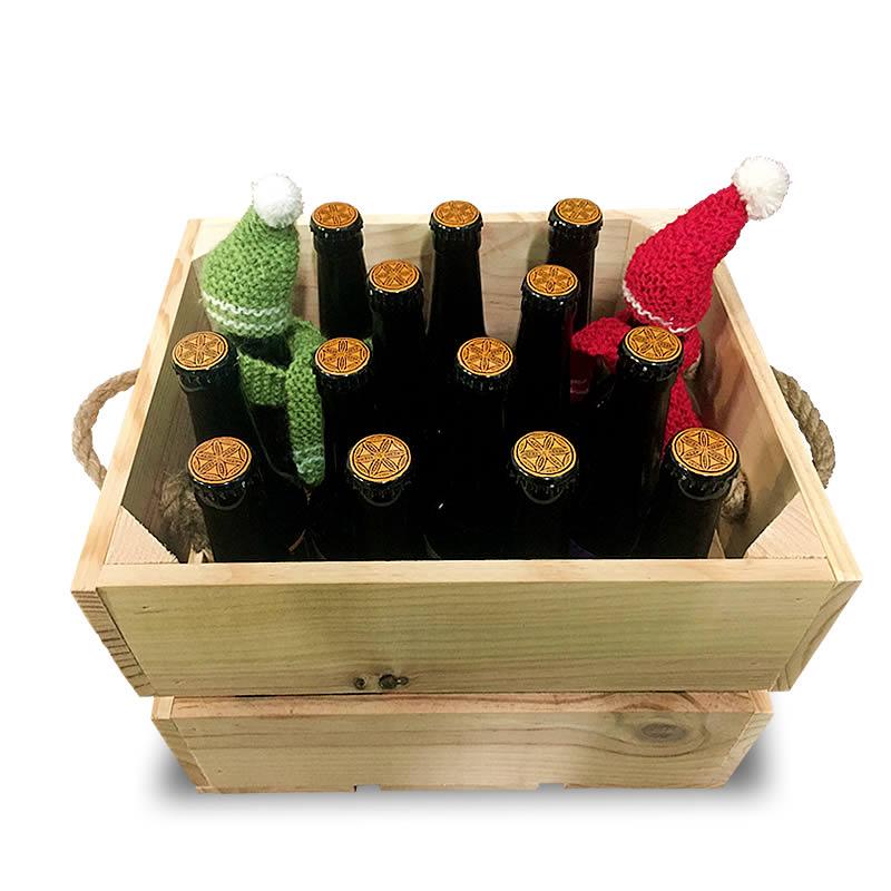 caja cervezas navidad