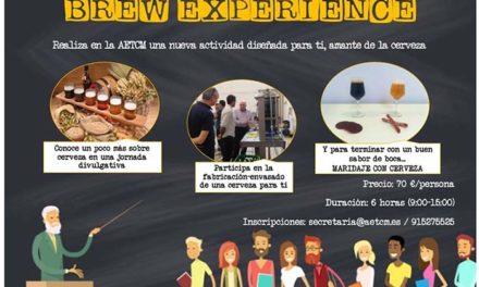 Jornada 'Experiencia Cervecera' propiciada por AETCM: ¿te apuntas?