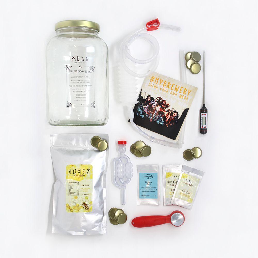 El kit para elaborar hidromiel de Cervezanía