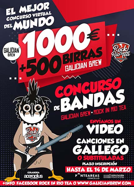 concurso bandas de rock de galician brew