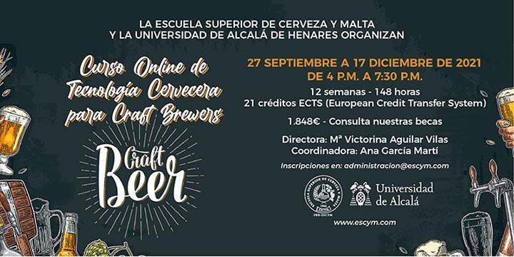 Curso de Tecnología Cervecera de la ESCYM y la Universidad de Alcalá